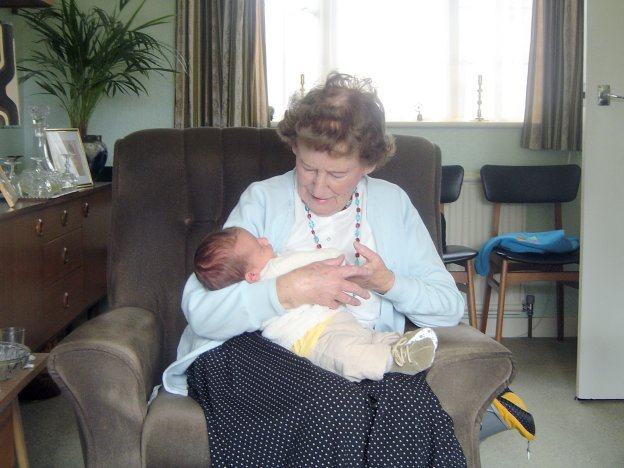 Great-Grandma and her Grandson